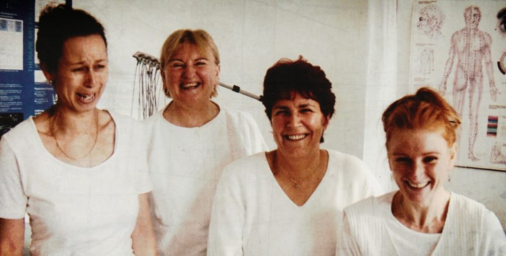 Das Team in Altglienicke von 1994 mit Frau MR Gisela Löser und Ihrer Tochter Heike Löser